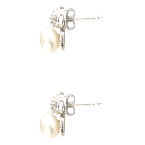Cz Pearl Earrings -T3002 KrishnaPearlsandJewellers