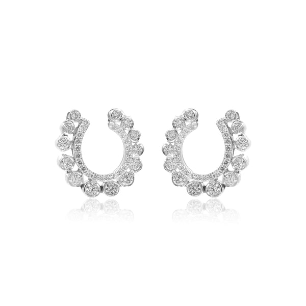 Diamond -Curved Earrings -GTD1594 KrishnaPearlsandJewellers