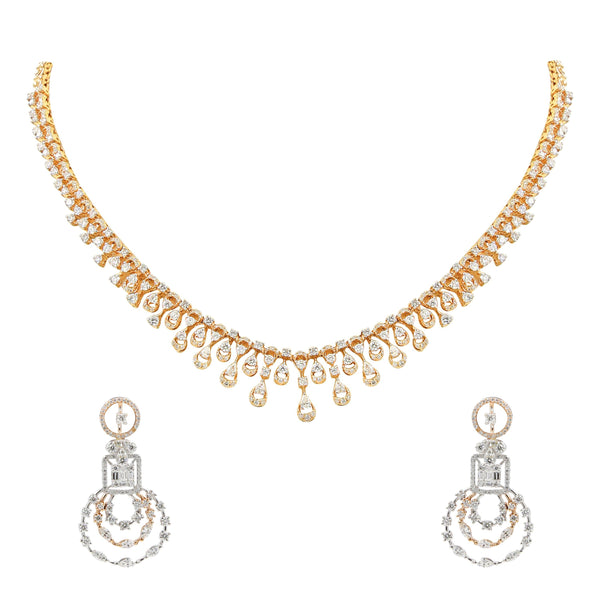 Diamond Set -GSD0167 KrishnaPearlsandJewellers