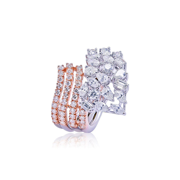 Diamond Twisted Rings-GRD1663 KrishnaPearlsandJewellers