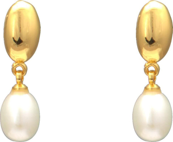 Drop Pearl Earrings -T0884 KrishnaPearlsandJewellers