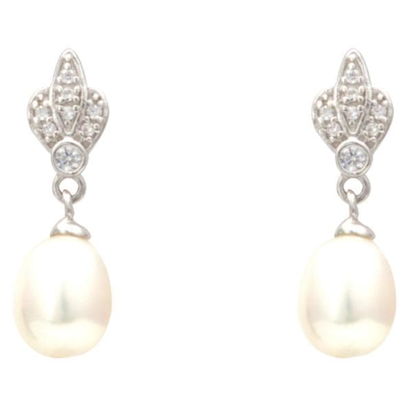 Flower Shape | Pearl Earrings -T3355 KrishnaPearlsandJewellers