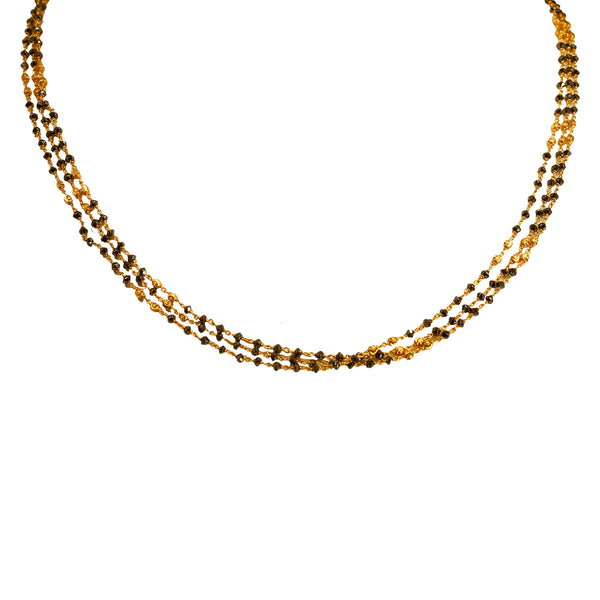 Gold Chain with Black Dimonds -GCB0134