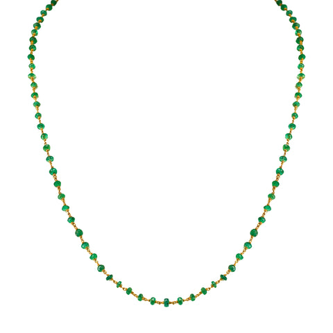 Gold Chain with Emerald -GCE0023