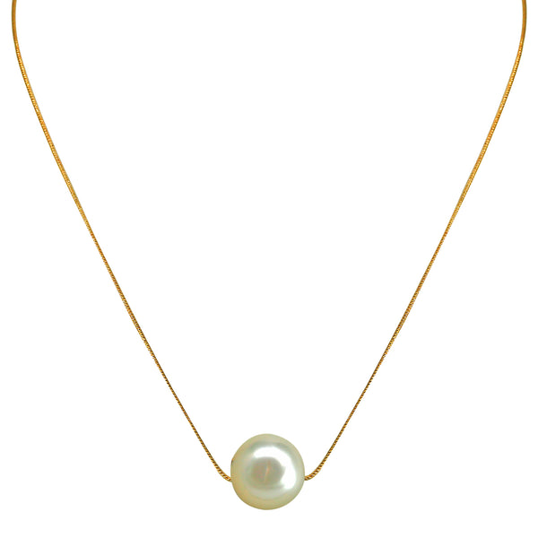 Gold Chain with South Sea pearl-GCSS001