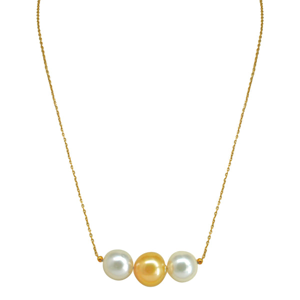 Gold Chain with South Sea pearl-GCSS367