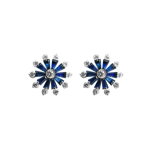 Blue Sapphire and Earrings -GTBS327