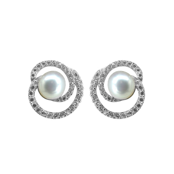 Gold  Pearl Earrings -GTP2086