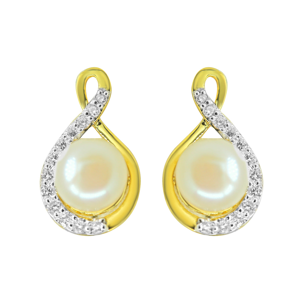 Gold  Pearl Earrings -GTPD258