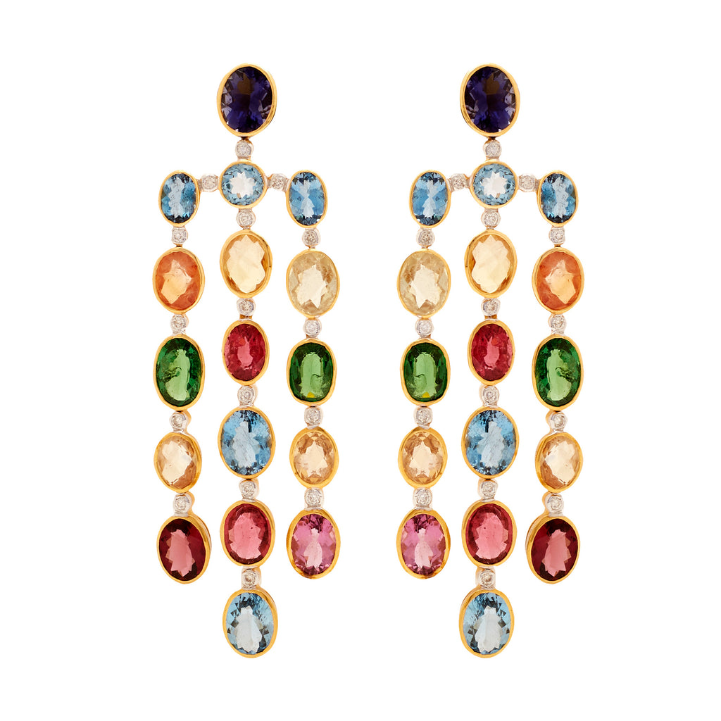 Gold -Semiprecious Earrings -GTSP400
