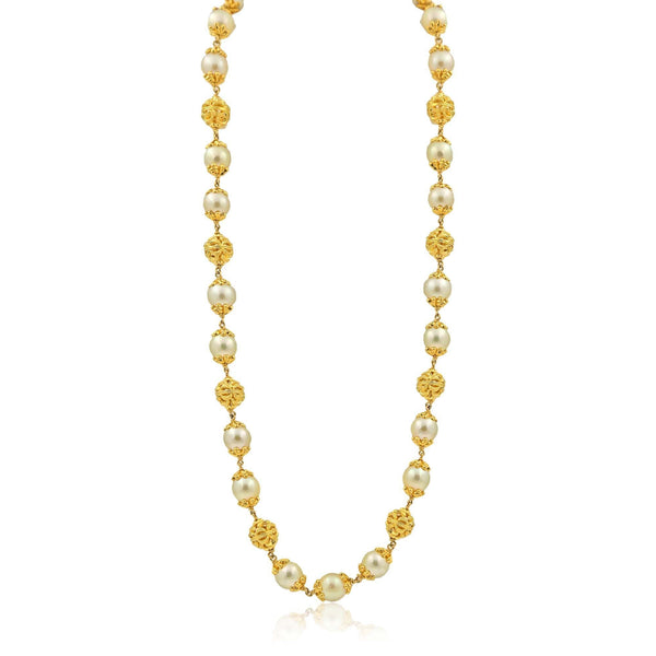 Gold Chain with South Sea pearl-GCSS345 KrishnaPearlsandJewellers
