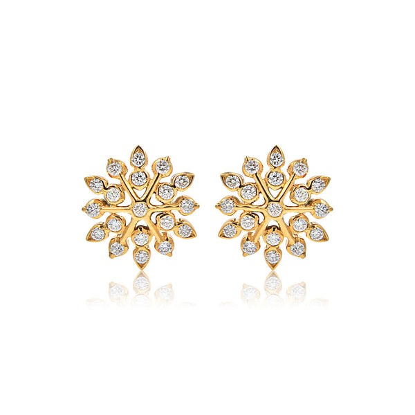 Gold Diamond Earrings -GTD1486 KrishnaPearlsandJewellers