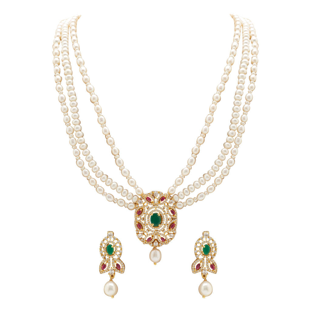 Pearl -MultiStones set -H2976