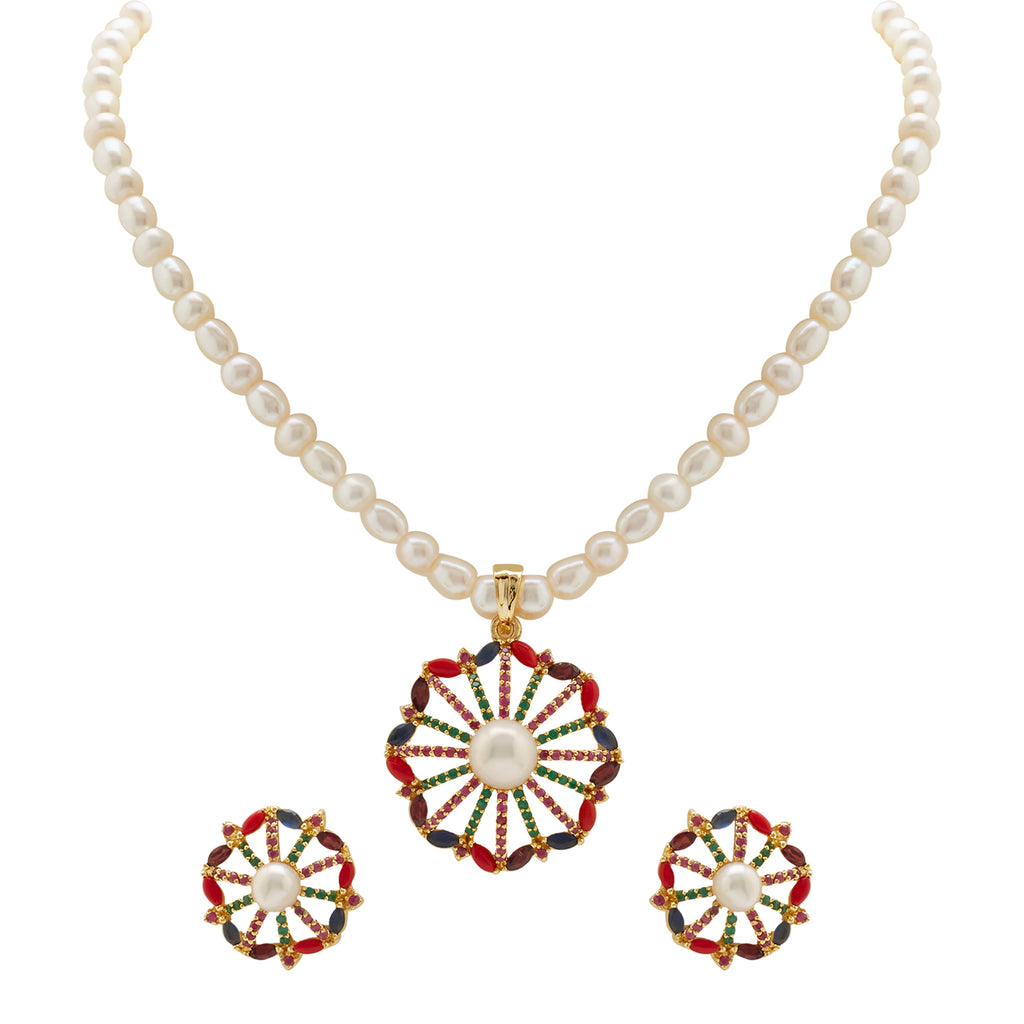 Pearl -MultiStones set -H3010