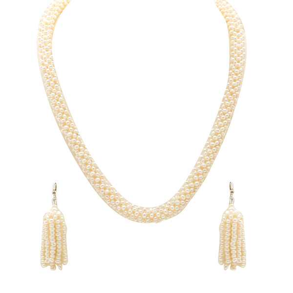 White Pearl  Necklace-H3072