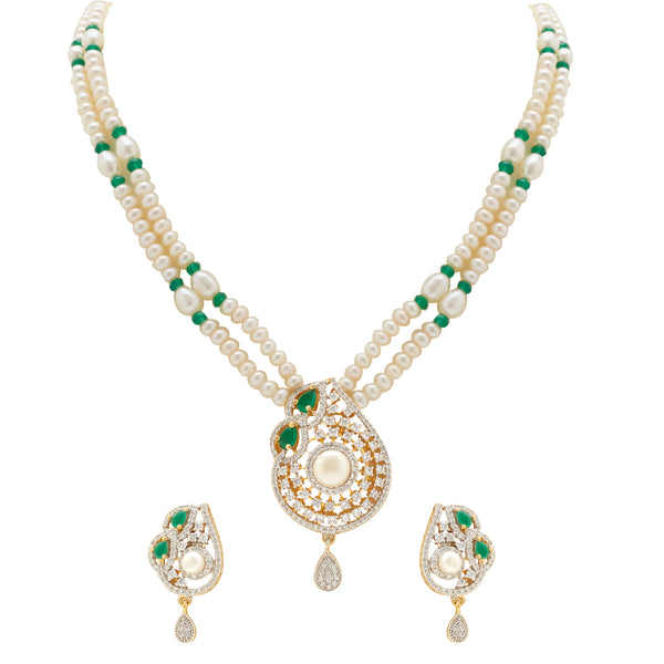 Pearl - Green Stones set -H3073