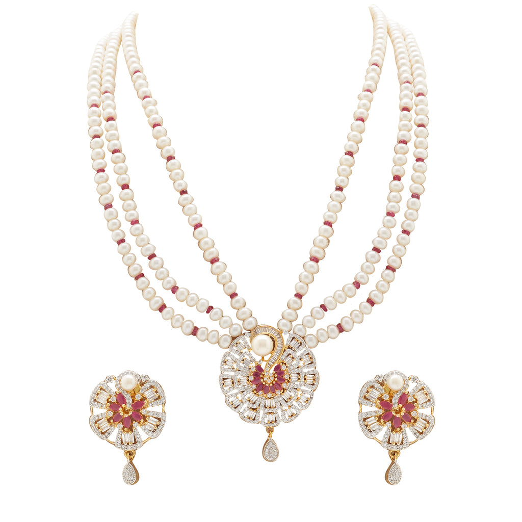 Pearl -MultiStones set -H3076