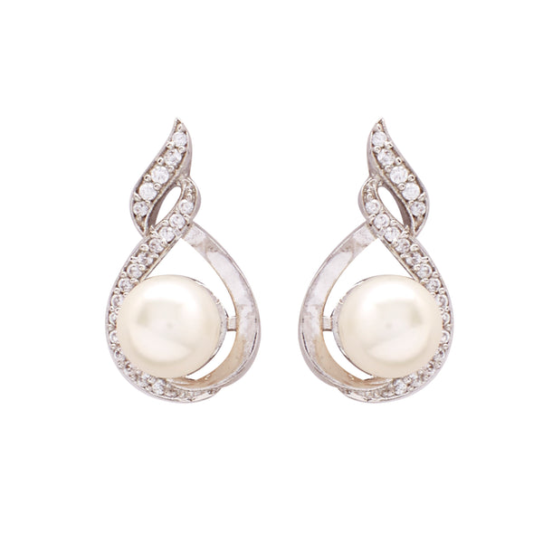 Pearl with Cz | Earrings -T0786