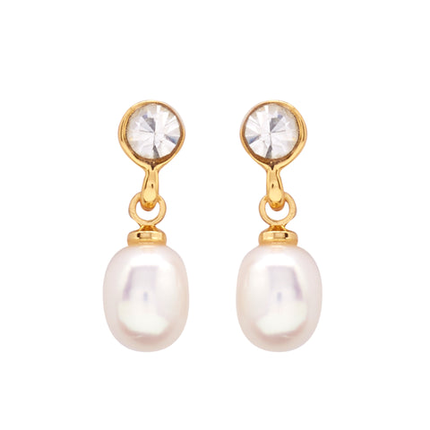 Round Pearl Hanging CZ Stone - T0805