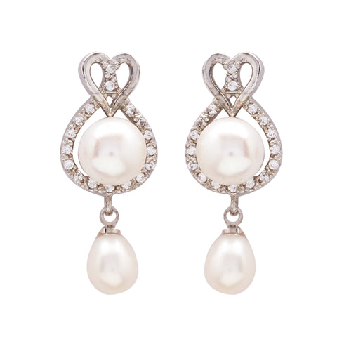 Pearl with Cz | Earrings -T0927