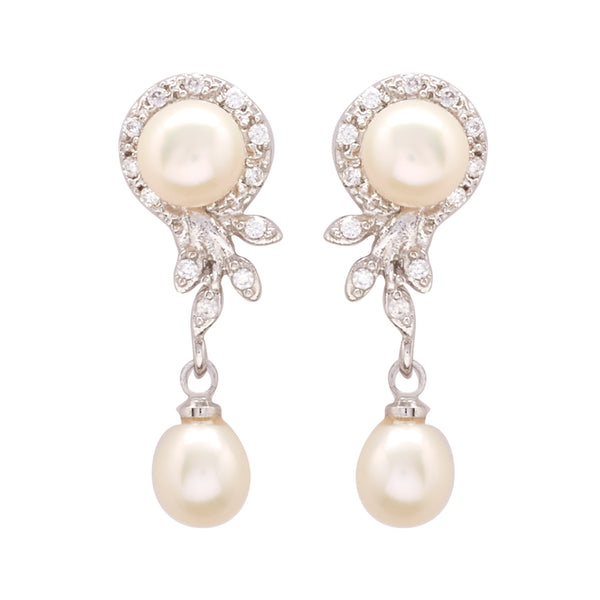 Pearl with Cz | Earrings -T0932