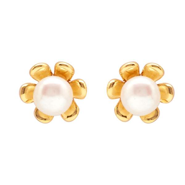 Pearl Earrings Studs with -T1554