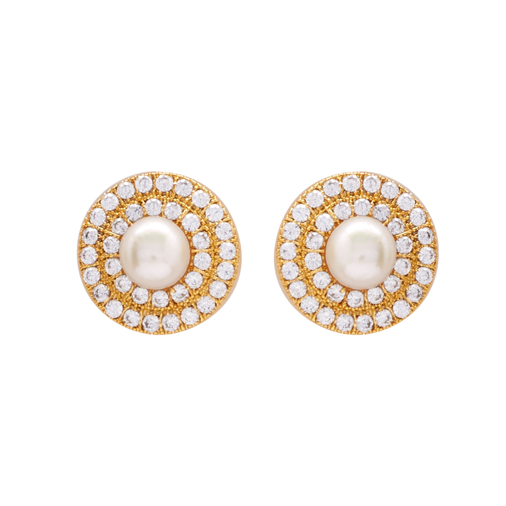 White Pearl Earrings -T3032