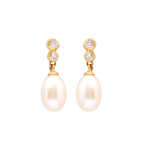 Pearl Hanging CZ Stone - T3484