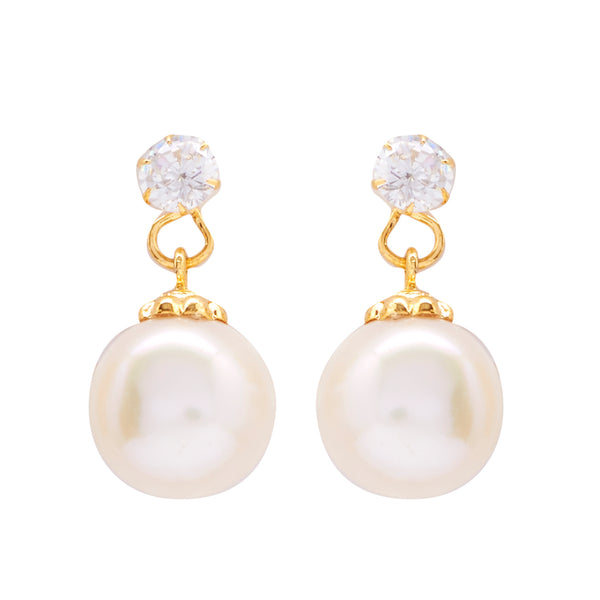 Round Pearl Hanging CZ Stone - T3971