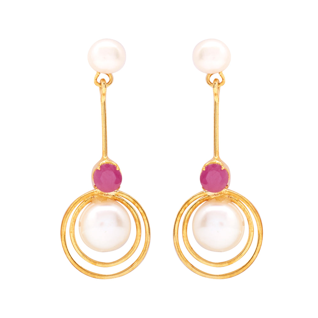 Hanging Pearl Earrings Studs with 's-T3980