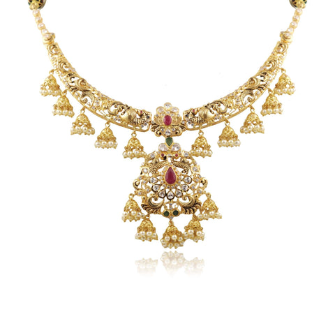 Kanti Gold -Peacock -Necklace -PGN0676 KrishnaPearlsandJewellers