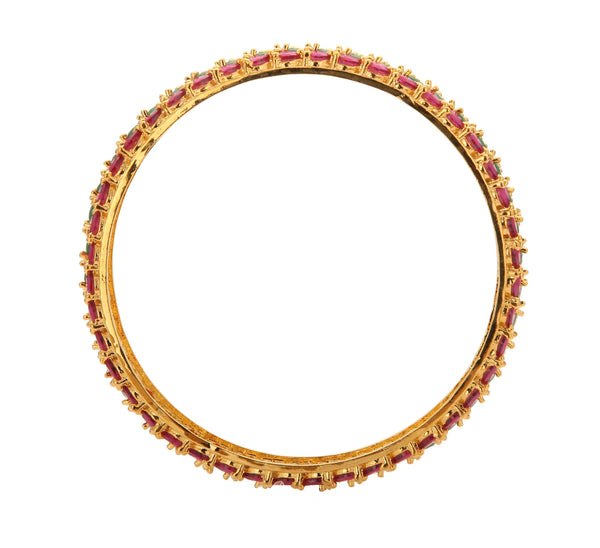 Multi Stone Bangle - B0629 KrishnaPearlsandJewellers