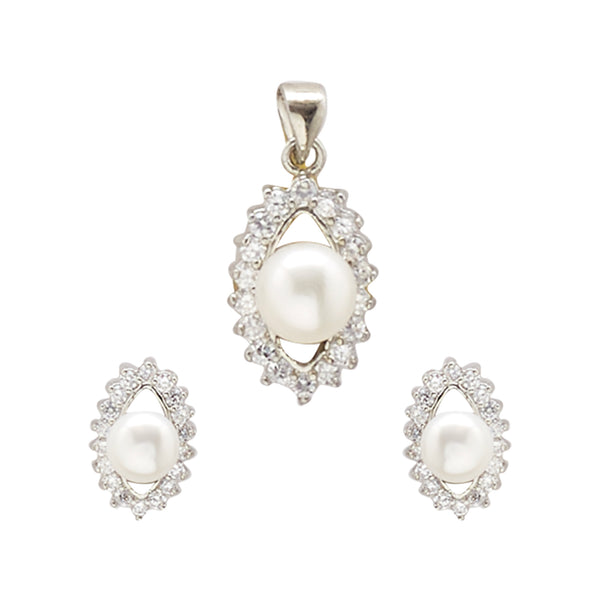 Button Pearls - Pendant Earrings -P0761