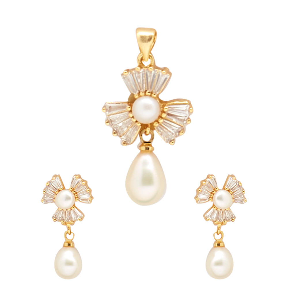 Drop Pearls -Pendant -Earrings -P0981