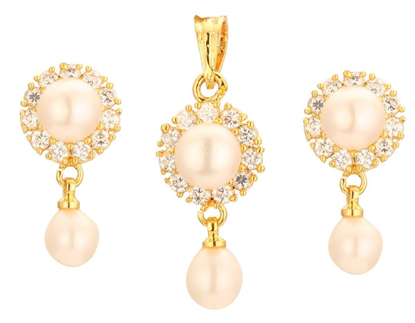 Pearl with Cz | Earrings -TP361 KrishnaPearlsandJewellers