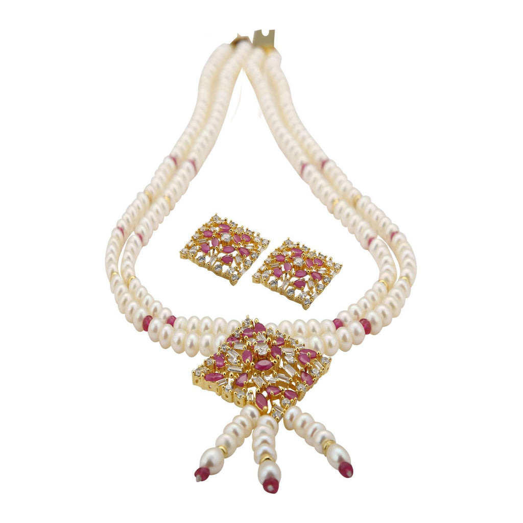 Pearls Chain -Earrings - H2619 KrishnaPearlsandJewellers