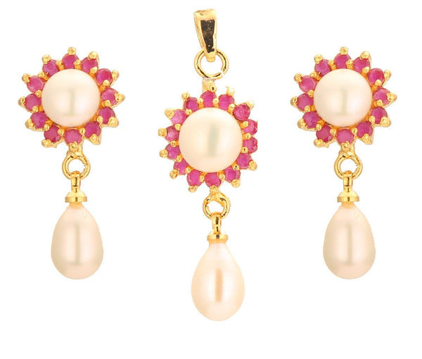 Pearls Drop -Pendant Earrings -P0744 KrishnaPearlsandJewellers
