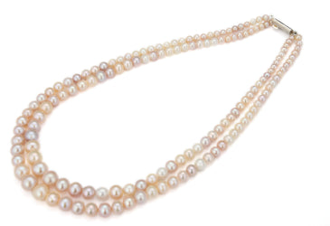 Pink -Rounded Pearl -String -S1377 KrishnaPearlsandJewellers