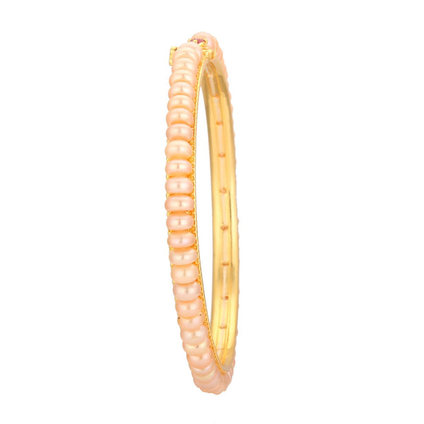 Pink Pearl Bangle - B0675 KrishnaPearlsandJewellers
