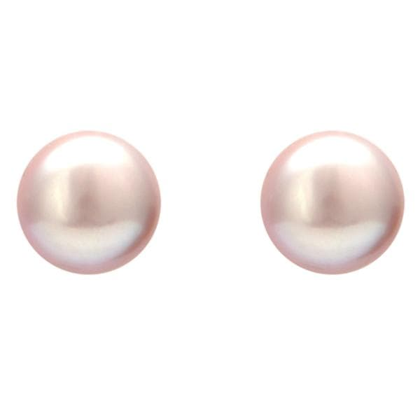 Pink Pearl Earrings -T0147 KrishnaPearlsandJewellers