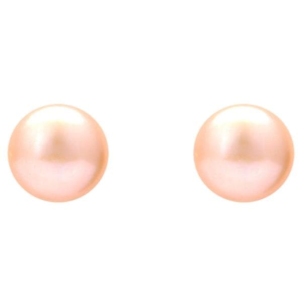 Pink Pearl Earrings -T3719 KrishnaPearlsandJewellers