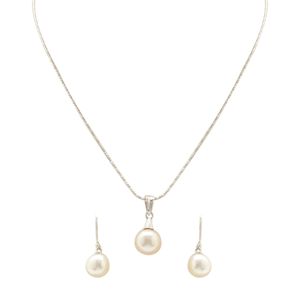Round Pearl - pendent Earrings - TC083