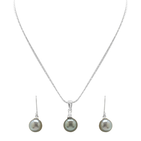 Round Pearl - pendent Earrings - TC084