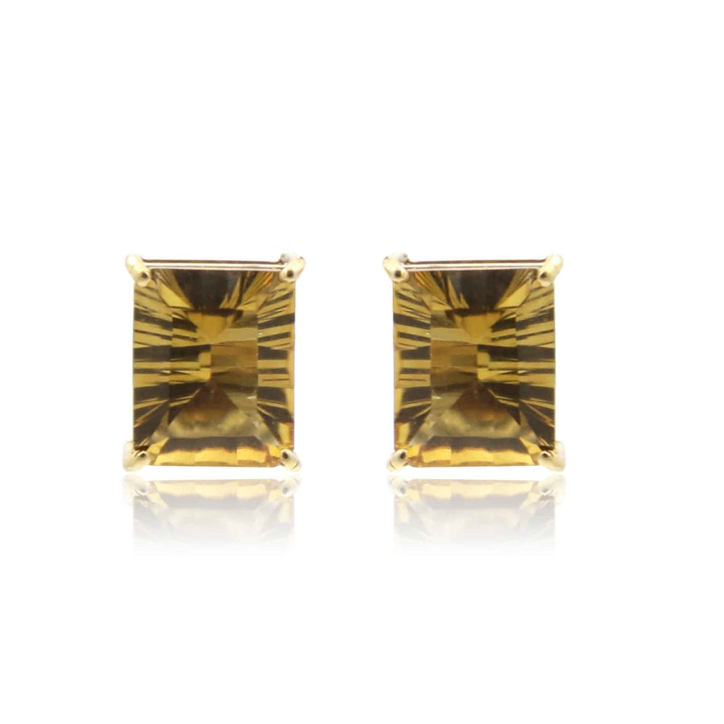 Yellow Saphire -Earrings -GTSP504 KrishnaPearlsandJewellers