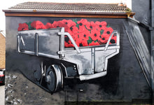 Load image into Gallery viewer, 'Poppy Wagon' Hand Sprayed Screen Print - FrankStyles