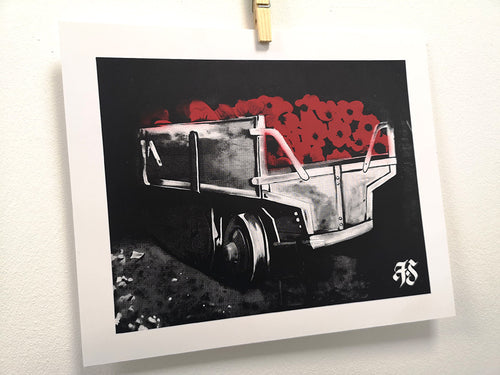 'Poppy Wagon' Hand Sprayed Screen Print - FrankStyles