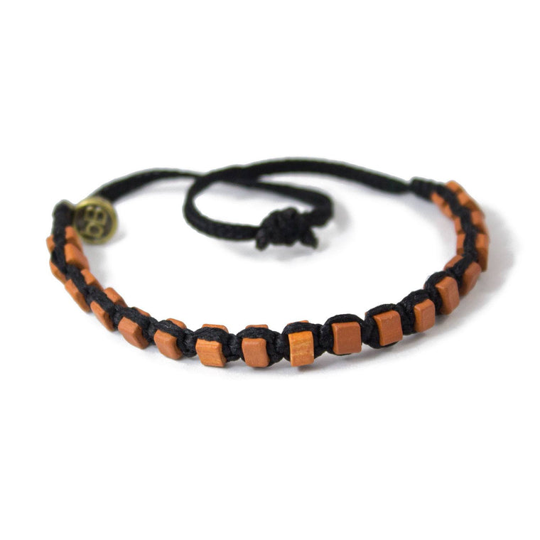 Brown Andes Carbon Black macrame artisan bracelets cover