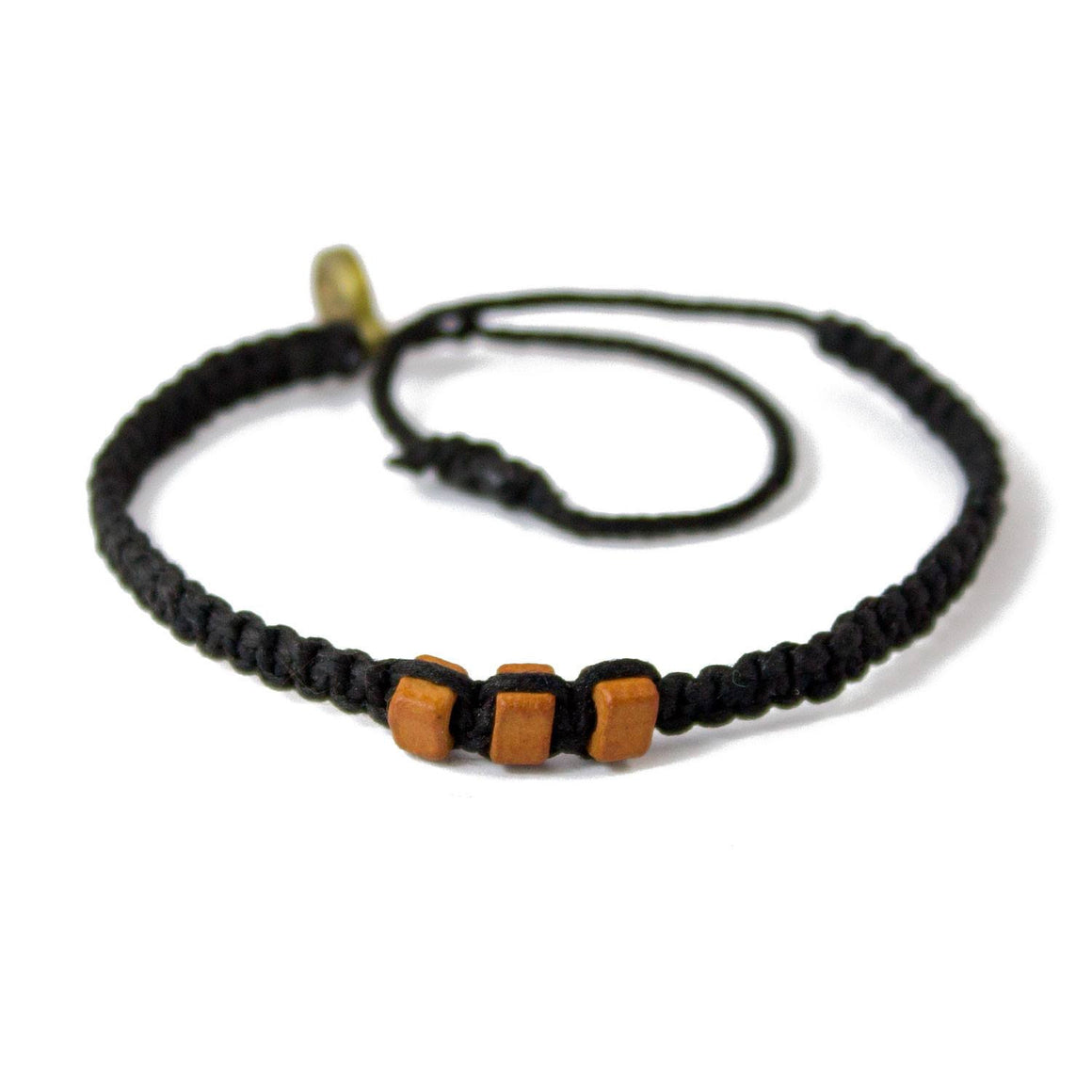 Brown Chasqui Carbon Black bracelets that help children cover
