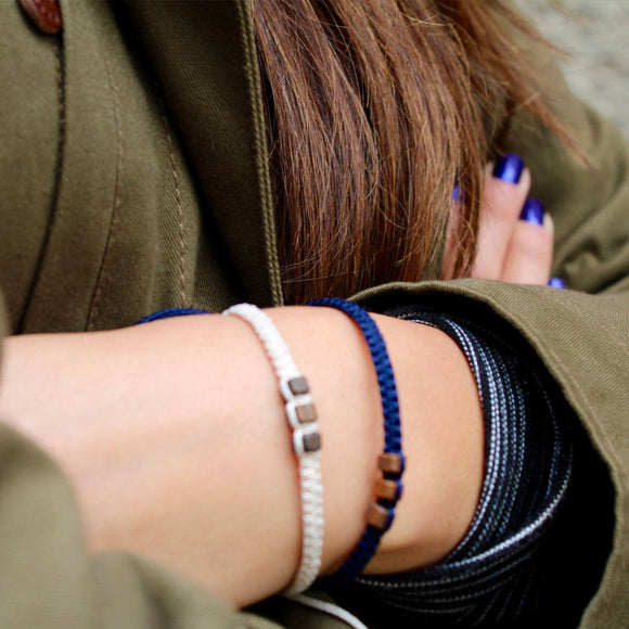 Brown Chasqui Dark Blue bracelets that help children cover
