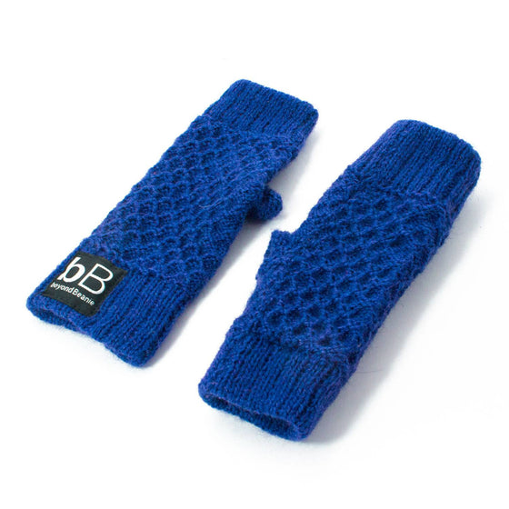Blue spring time gloves